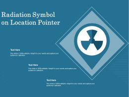 Radiation Symbol On Location Pointer