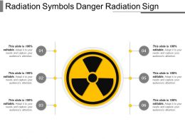 Radiation Symbols Danger Radiation Sign Ppt Slide Examples