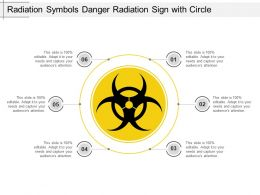 Radiation Symbols Danger Radiation Sign With Circle Ppt Slide