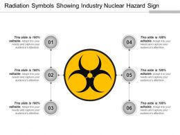 Radiation Symbols Showing Industry Nuclear Hazard Sign Ppt Summary