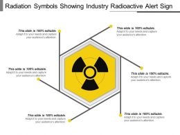 Radiation Symbols Showing Industry Radioactive Alert Sign Ppt Inspiration