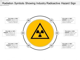 Radiation Symbols Showing Industry Radioactive Hazard Sign Ppt Icon