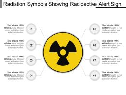 Radiation Symbols Showing Radioactive Alert Sign PPT Ideas