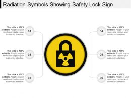 Radiation Symbols Showing Safety Lock Sign Ppt Images