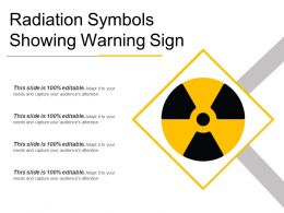 Radiation Symbols Showing Warning Sign Presentation Deck