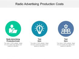 Radio Advertising Production Costs Ppt Powerpoint Presentation Diagrams Cpb
