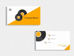 Radio Announcer Business Card Template