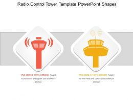 Radio Control Tower Template Powerpoint Shapes