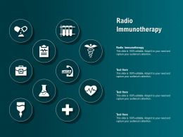 Radio Immunotherapy Ppt Powerpoint Presentation Pictures Structure