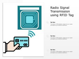 Radio Signal Transmission Using RFID Tag