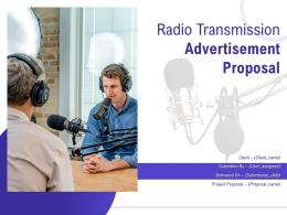 Radio Transmission Advertisement Proposal Powerpoint Presentation Slides