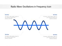 Radio Wave Oscillations In Frequency Icon