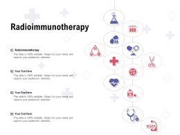 Radioimmunotherapy Ppt Powerpoint Presentation Professional Display