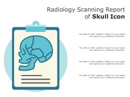 Radiology Scanning Report Of Skull Icon