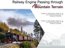 Railway Engine Passing Through Mountain Terrain