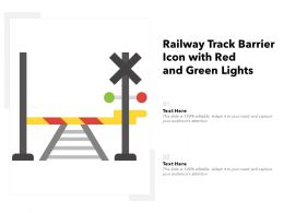 Railway Track Barrier Icon With Red And Green Lights