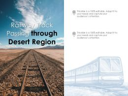 Railway Track Passing Through Desert Region