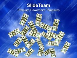 Rain Of Dollars Background Money Powerpoint Templates Ppt Themes And Graphics