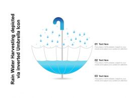 Rain Water Harvesting Depicted Via Inverted Umbrella Icon