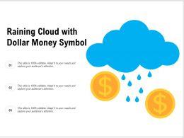Raining Cloud With Dollar Money Symbol