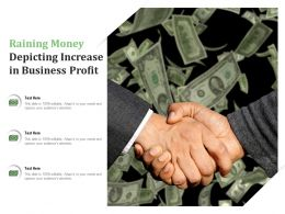 Raining Money Depicting Increase In Business Profit