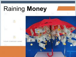 Raining Money Dollar Currency Business Successful Entrepreneur
