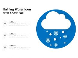 Raining Water Icon With Snow Fall