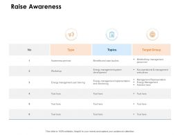 Raise Awareness Target Ppt Powerpoint Presentation Show Elements