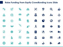 Raise Funding From Equity Crowdfunding Icons Slide Ppt Powerpoint Presentation Summary