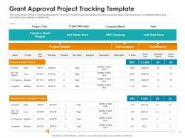 Raise Non Repayable Funds Public Corporations Grant Approval Project Tracking Template Ppt Guide