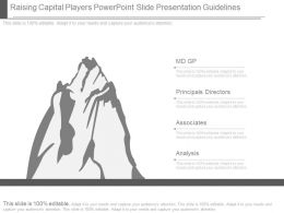Raising Capital Players Powerpoint Slide Presentation Guidelines