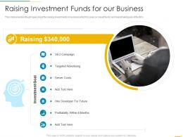 Raising Investment Funds For Our Business Funding Slides