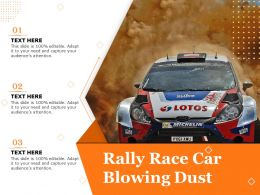 Rally Race Car Blowing Dust