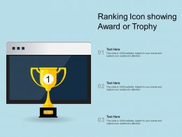 Ranking Icon Showing Award Or Trophy