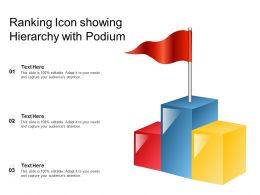 Ranking Icon Showing Hierarchy With Podium