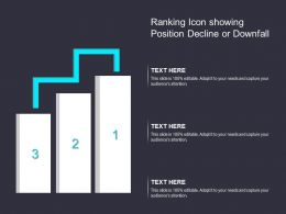 Ranking Icon Showing Position Decline Or Downfall