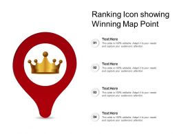 Ranking Icon Showing Winning Map Point