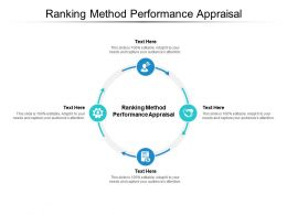 Ranking Method Performance Appraisal Ppt Powerpoint Presentation Template Cpb