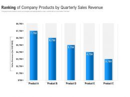 Ranking Of Company Products By Quarterly Sales Revenue