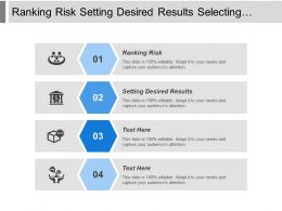 Ranking Risk Setting Desired Results Selecting Strategy Implementing Strategy
