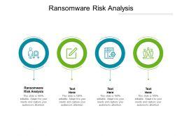 Ransomware Risk Analysis Ppt Powerpoint Presentation Portfolio Structure Cpb