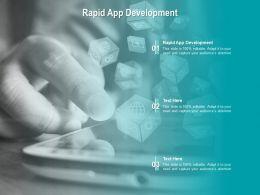 Rapid App Development Ppt Powerpoint Presentation Outline Show Cpb