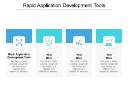 Rapid Application Development Tools Ppt Powerpoint Presentation Outline Summary Cpb