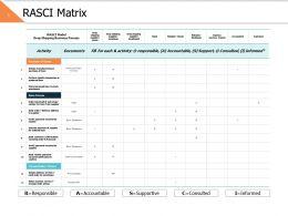 Rasci Matrix Ppt Powerpoint Presentation Gallery Model