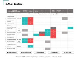 Rasci Matrix Ppt Powerpoint Presentation Summary Graphics Download