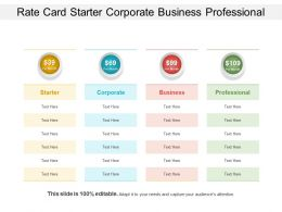 Rate Card Starter Corporate Business Professional