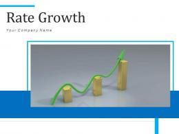 Rate Growth Business Revenue Staircase Arrow Increasing Decreasing Analysis