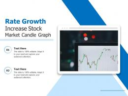 Rate Growth Increase Stock Market Candle Graph
