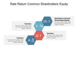 Rate Return Common Shareholders Equity Ppt Powerpoint Presentation Rules Cpb