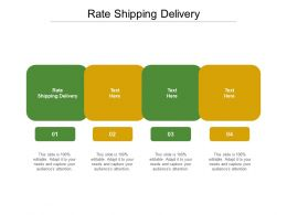 Rate Shipping Delivery Ppt Powerpoint Presentation Designs Cpb